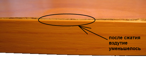 ремонт вздутых поверхностей